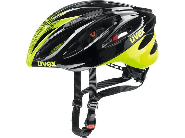 UVEX Boss Race Cykelhjelm, black-neon yellow